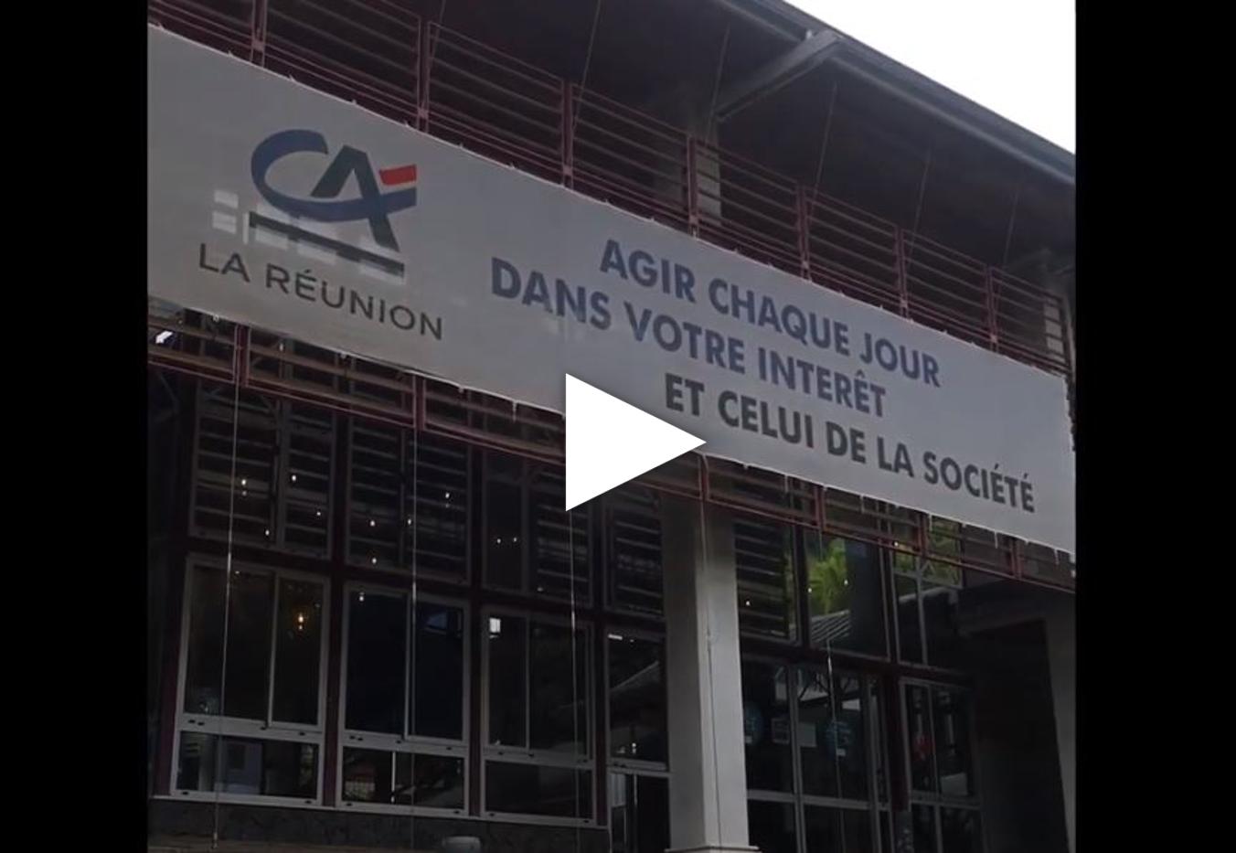 Crédit Agricole de la Réunion - Image de la devanture du siège